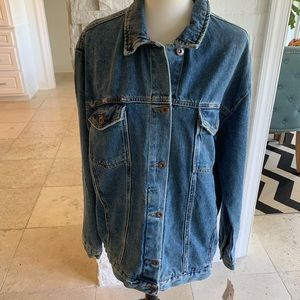 Free People Southbank wash denim jacket Med NWT